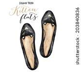 Ladies Shoes. Watercolor...