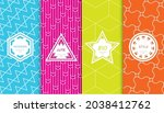 set of colorful geometric... | Shutterstock .eps vector #2038412762