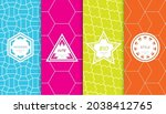 set of colorful geometric... | Shutterstock .eps vector #2038412765
