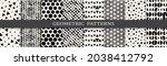 set of geometric seamless... | Shutterstock .eps vector #2038412792