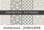 set of arabic seamless patterns.... | Shutterstock .eps vector #2038413098