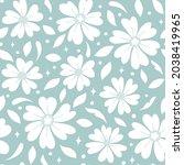 vector floral seamless pattern. ... | Shutterstock .eps vector #2038419965