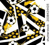 abstract seamless football...   Shutterstock .eps vector #2038424435