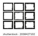 abstract grunge border frame... | Shutterstock .eps vector #2038427102