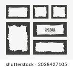 abstract grunge border frame... | Shutterstock .eps vector #2038427105