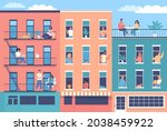 modern city buildings and happy ... | Shutterstock .eps vector #2038459922