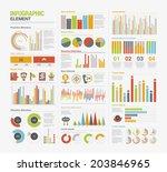 big set of infographics elements | Shutterstock .eps vector #203846965