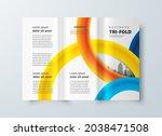 tri fold design template... | Shutterstock .eps vector #2038471508