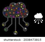 glossy network cloud links...   Shutterstock .eps vector #2038473815