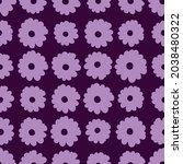 seamless pattern of flowers in...   Shutterstock .eps vector #2038480322