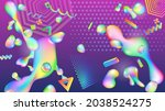 abstract background of colorful ... | Shutterstock . vector #2038524275