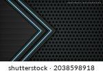 abstract metallic black frame... | Shutterstock .eps vector #2038598918