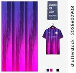 soccer jersey pattern design.... | Shutterstock .eps vector #2038602908