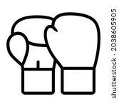 pair of boxing gloves line art... | Shutterstock .eps vector #2038605905