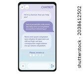 chat bot window on smartphone...
