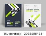 corporate book cover design... | Shutterstock .eps vector #2038658435