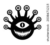 big one eyed monster flat... | Shutterstock .eps vector #2038671215