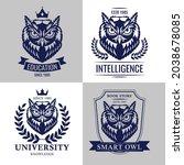 smart owl set school college... | Shutterstock .eps vector #2038678085