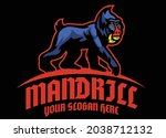vector of mandrill monkey logo... | Shutterstock .eps vector #2038712132