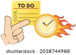 burning clock and to do list... | Shutterstock .eps vector #2038744988