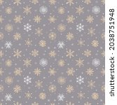 seamless pattern with doodle... | Shutterstock .eps vector #2038751948