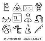 chemistry icon set. bold...