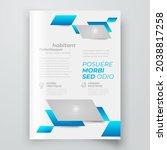 flyer cover design template... | Shutterstock .eps vector #2038817258
