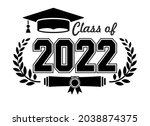 lettering class of 2022 for... | Shutterstock .eps vector #2038874375