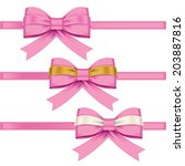 colorful gift bows with ribbons | Shutterstock .eps vector #203887816