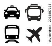 public transport icons.... | Shutterstock .eps vector #2038887335
