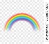 realistic colorful rainbow.... | Shutterstock .eps vector #2038887338
