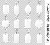 set blank white paper price... | Shutterstock .eps vector #2038889942