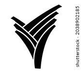 vector leek glyph icon design   | Shutterstock .eps vector #2038902185