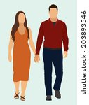 young white or caucasian couple ... | Shutterstock .eps vector #203893546
