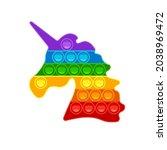 unicorn shape pop it. trendy... | Shutterstock .eps vector #2038969472