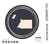 black grunge stamp circle... | Shutterstock .eps vector #2038987745