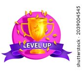 level up game icon  vector...
