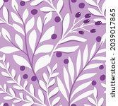 vector hand drawn leaves... | Shutterstock .eps vector #2039017865
