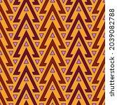 seamless pattern. triangles... | Shutterstock .eps vector #2039082788