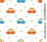 driver tiger seamless pattern ...   Shutterstock .eps vector #2039088935