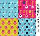 seamless arabic and muslim... | Shutterstock .eps vector #203909308