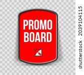 red promo board  or button with ...   Shutterstock .eps vector #2039104115