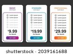 modern clean pricing table....