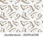 monochrome boots seamless...   Shutterstock .eps vector #203916298
