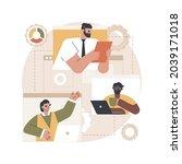 organization abstract concept...   Shutterstock .eps vector #2039171018