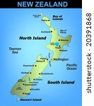 illustrated map of new zealand | Shutterstock .eps vector #20391868