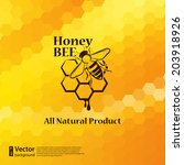 Vector Honey Background And Be...