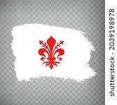 flag of florence brush strokes. ...