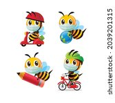 collection set of cartoon cute... | Shutterstock .eps vector #2039201315