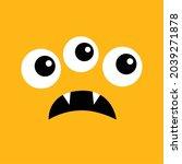 monster head. cute cartoon boo... | Shutterstock . vector #2039271878